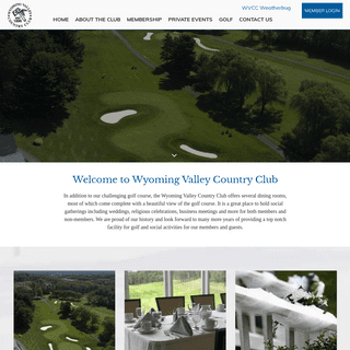 Home - Wyoming Valley Country Club - Wilkes Barre, PA