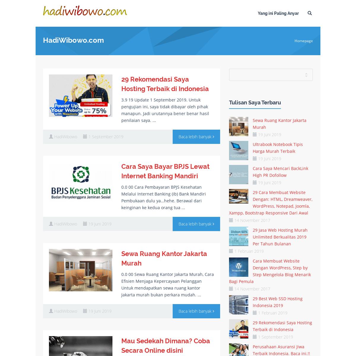 HadiWibowo.com