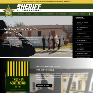 St. Johns County Sheriff's Office - SJSO - Protecting St. Johns County