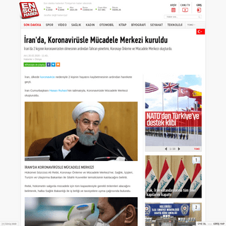 İran'da, Koronavirüsle Mücadele Merkezi kuruldu