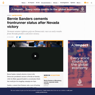 ArchiveBay.com - www.aljazeera.com/news/2020/02/bernie-sanders-heads-big-win-nevada-caucuses-200223010622705.html - Bernie Sanders cements frontrunner status after Nevada victory - USA News - Al Jazeera