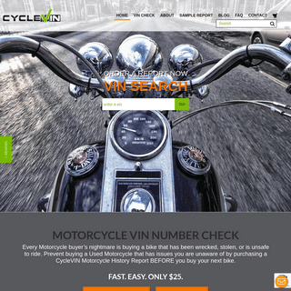 Motorcycle Vin Check - Check Motorcycle Title - CycleVin