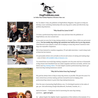 DogProblems.com – Please bare with us. We're transitioning this site to a new format.