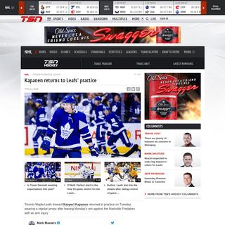 ArchiveBay.com - www.tsn.ca/kasperi-kapanen-returns-to-toronto-maple-leafs-practice-1.1434040 - Kasperi Kapanen returns to Toronto Maple Leafs' practice - TSN.ca