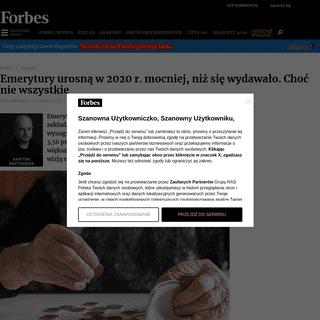 ArchiveBay.com - www.forbes.pl/finanse/waloryzacja-rent-i-emerytur-o-ile-wzrosna-swiadczenia-w-2020-roku/426wrgr - Waloryzacja rent i emerytur. O ile wzrosną świadczenia w 2020 roku - Finanse - Forbes.pl
