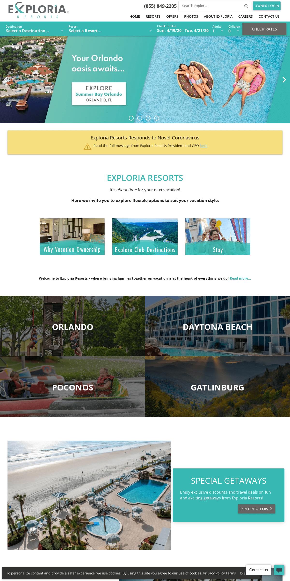 ArchiveBay.com - exploriaresorts.com - Exploria Resorts