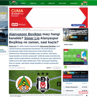 Alanyaspor Beşiktaş maçı hangi kanalda- Süper Lig Alanyaspor Beşiktaş ne zaman, saat kaçta- - Spo...