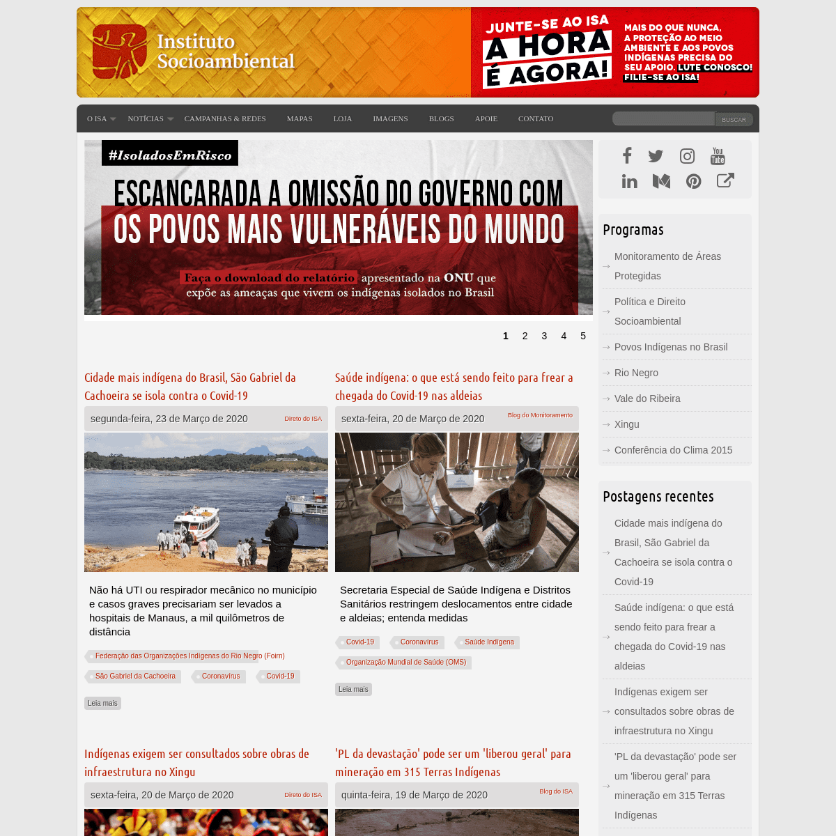 ArchiveBay.com - socioambiental.org - ISA - Instituto Socioambiental - Socioambiental se escreve junto...