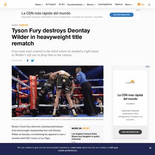 Tyson Fury destroys Deontay Wilder in heavyweight title rematch - News - Al Jazeera