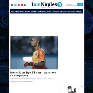 Infortunio per Sepe, il Parma si cautela con un altro portiere