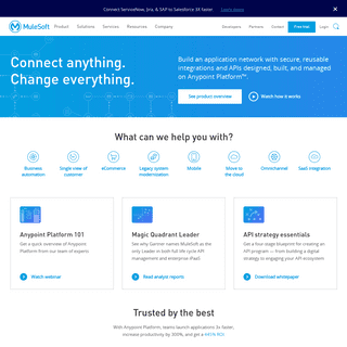 MuleSoft - Integration Platform for Connecting SaaS and Enterprise Applications