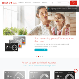 No Annual Fee Mastercard with Cash Back Rewards - Rogers Bank