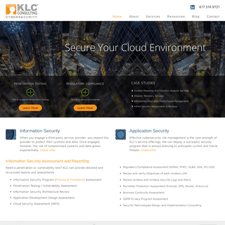 Information Security Consulting and Reporting - KLC Consulting KLC Consulting