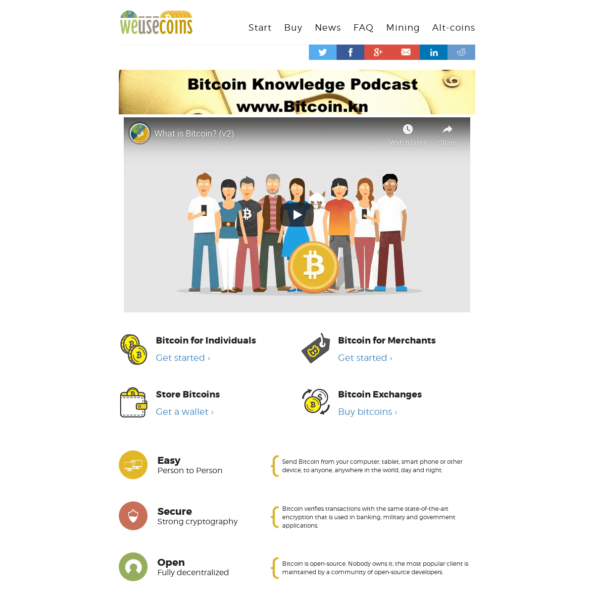 What is Bitcoin- Introductory video and current Bitcoin price.