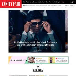 VanityFair.it - celebrity, attualità, costume, moda, bellezza, food, gossip - VanityFair.it