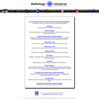 Radiology Universe- Online Calculators and Normograms