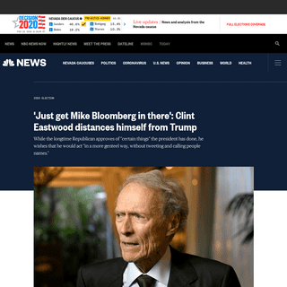 ArchiveBay.com - www.nbcnews.com/politics/2020-election/just-get-mike-bloomberg-there-clint-eastwood-distances-himself-trump-n1141066 - 'Just get Mike Bloomberg in there'- Clint Eastwood distances himself from Trump