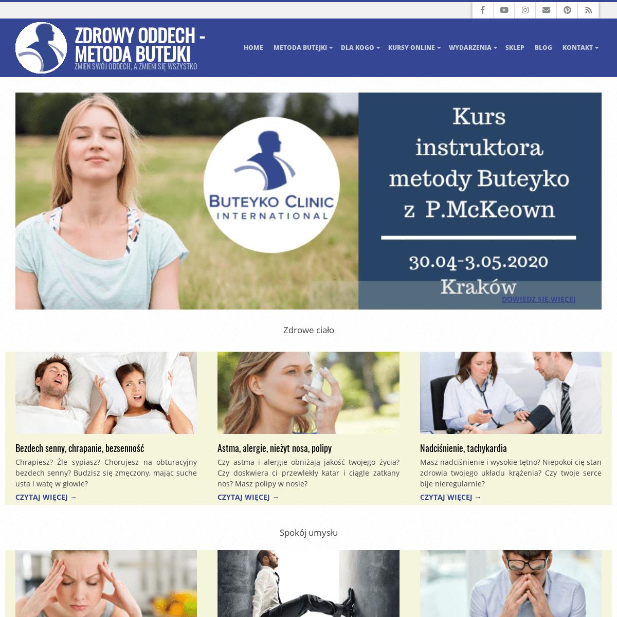 Kursy oddychania - Zdrowy Oddech - Metoda Butejki
