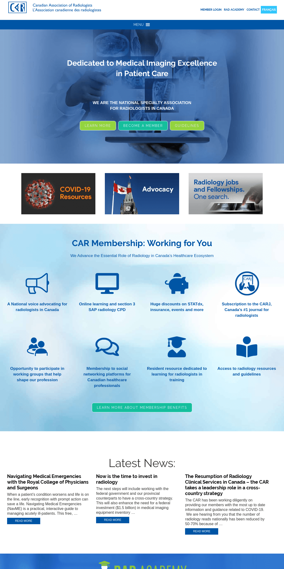 Home - CAR - Canadian Association of Radiologists