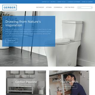 Kitchen and Bathroom Plumbing Fixtures - Gerber Plumbing