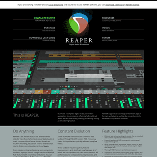 REAPER - Audio Production Without Limits
