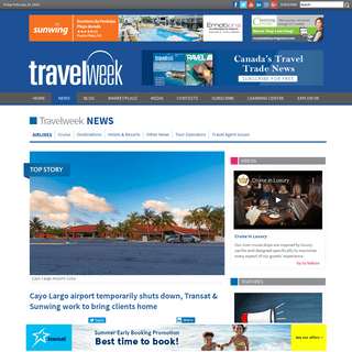 ArchiveBay.com - www.travelweek.ca/news/cayo-largo-airport-temporarily-shuts-down-reopening-feb-26/ - Cayo Largo airport temporarily shuts down, Transat & Sunwing work to bring clients home - Travelweek