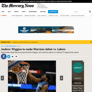 Andrew Wiggins to make Warriors debut vs. Lakers