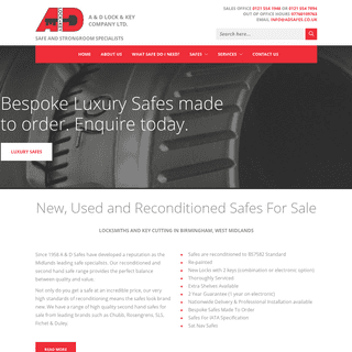 New, Used & Reconditioned Safes For Sale - A & D Lock & Key Co Ltd