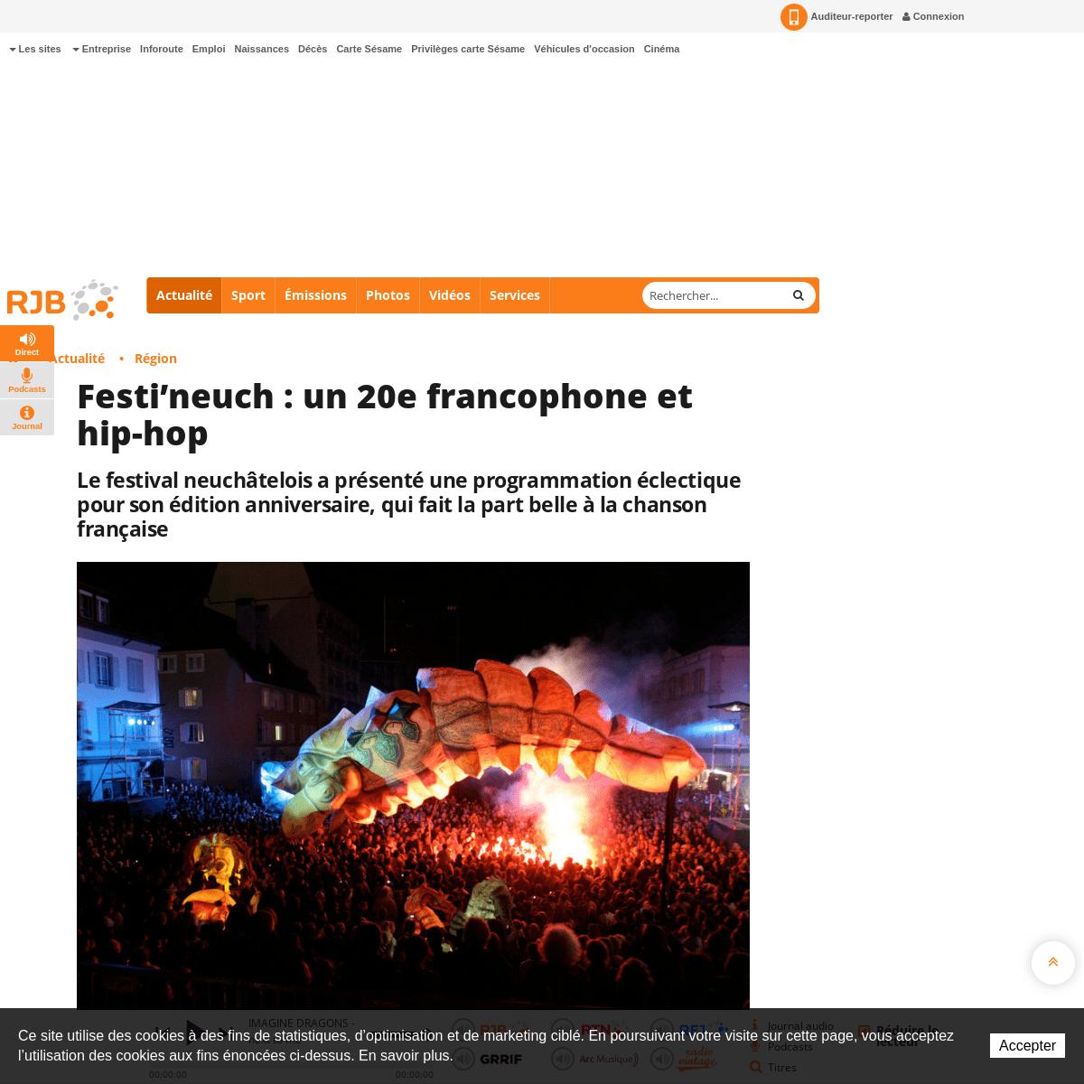 Festi'neuch - un 20e francophone et hip-hop - RJB votre radio régionale