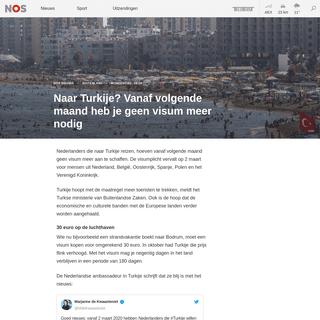 ArchiveBay.com - nos.nl/l/2323884 - Naar Turkije- Vanaf volgende maand heb je geen visum meer nodig - NOS