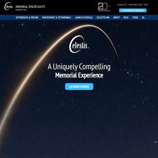 Celestis- Memorial Spaceflights – Send Ashes Into Space