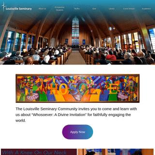 Home - Louisville Presbyterian Theological Seminary