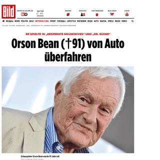 """Orson Bean ist tot- """"Desperate Housewives""""-Star von Auto überfahren - Leute - Bild.de"""