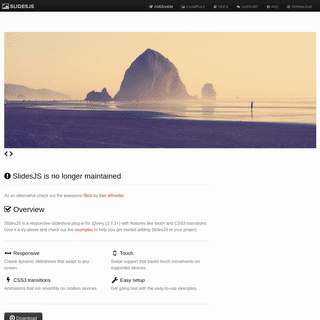 SlidesJS, a responsive slideshow plug-in for jQuery (1.7.1+) with features like touch and CSS3