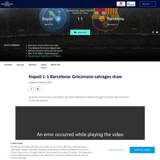 ArchiveBay.com - www.uefa.com/uefachampionsleague/match/2027123--napoli-vs-barcelona/postmatch/report/ - Napoli-Barcelona - Napoli 1-1 Barcelona- Griezmann salvages draw - UEFA Champions League - UEFA.com