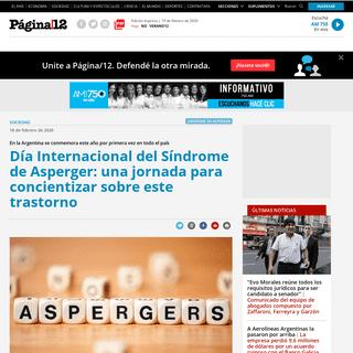 Día Internacional del Síndrome de Asperger- una jor... - Página12