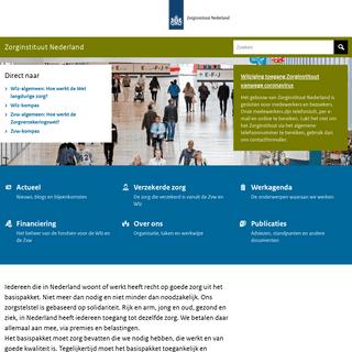 ArchiveBay.com - cvz.nl - Home - Zorginstituut Nederland