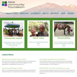 Taos Community Foundations – For Good, For Ever