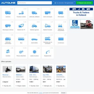 Autoline France – vente de machines, véhicules commerciaux, pièces détachées et équipement