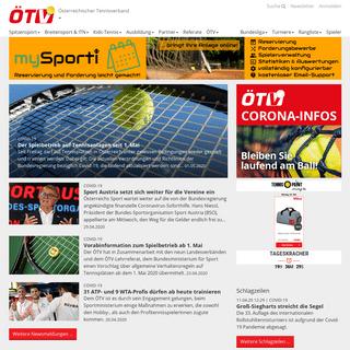 Österreichischer Tennisverband- Nachrichten und Information rund um Tennis