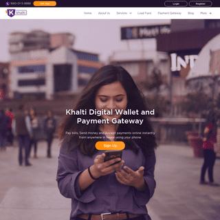 ArchiveBay.com - khalti.com - Digital Wallet & Online Payment Services in Nepal - Khalti