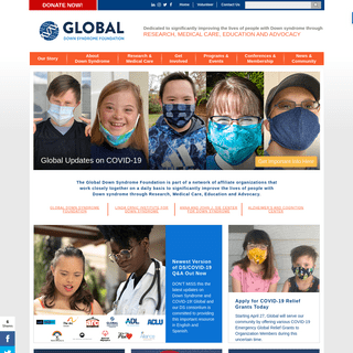 Global Down Syndrome Foundation - Research, Care, Education, Advocacy