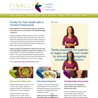Finally Fix Your Health - Finally Fix Your Health with Sheila Wagner PT, CN, BCHN