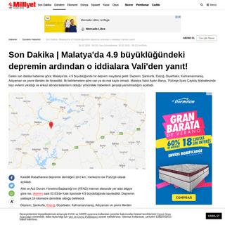 Son dakika - Malatya'da korkutan deprem! 5 ilde hissedildi - Son depremler - Haberler