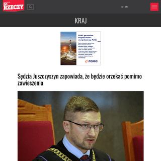 Sędzia Juszczyszyn zapowiada, że będzie orzekać
