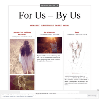 For Us - By Us - Just another WordPress.com site