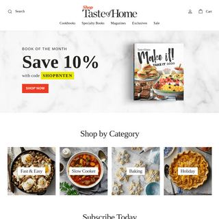 Shop Taste of Home - Cookbooks, Magazines & Products