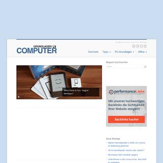 Grundlagen-Computer - Tipps zu Software, Hardware und Smartphones