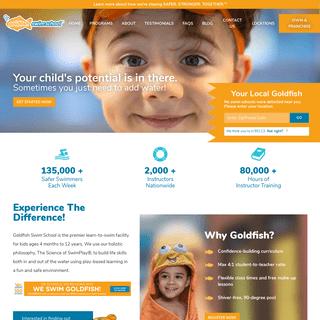 Kids Swimming Lessons - Goldfish Swim School