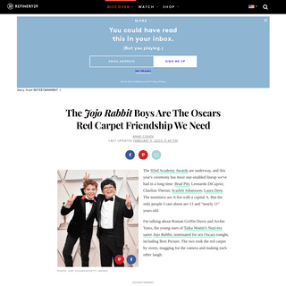 Jojo Rabbit Boys Had The Best Time On Oscars Red Carpet